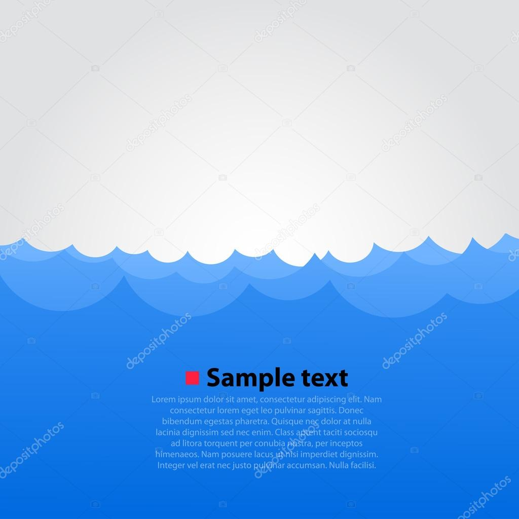 Vector sea background