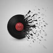 Fotografia astratto della musica di sottofondo. esplosione disco vinile