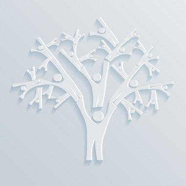 "Картина, постер, плакат, фотообои ""векторная иллюстрация tree people "", артикул 34895865"