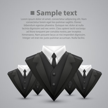 Vector triangle jacket and tie. team