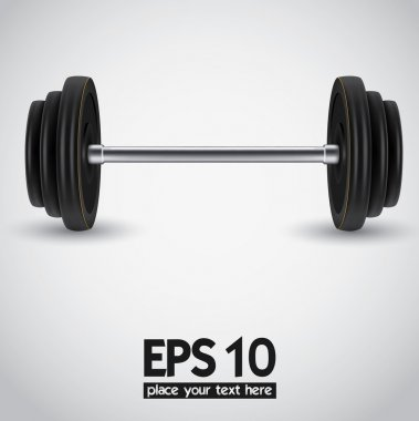 Weights vector illustration background.