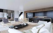 Moderní interiér obývací pokoj