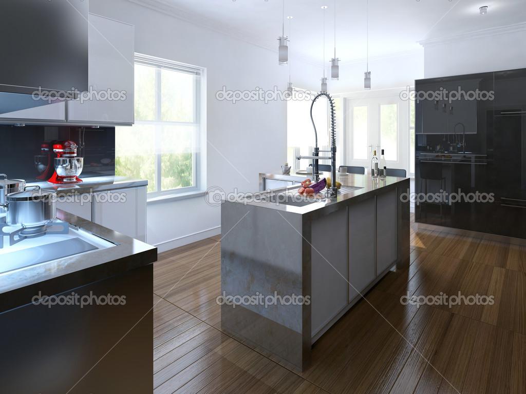 Moderne keuken interieur u stockfoto kuprin