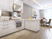 Kuchyně restaurace v neoklasicistním stylu