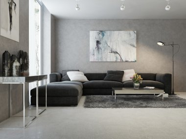 Modern interior of living room