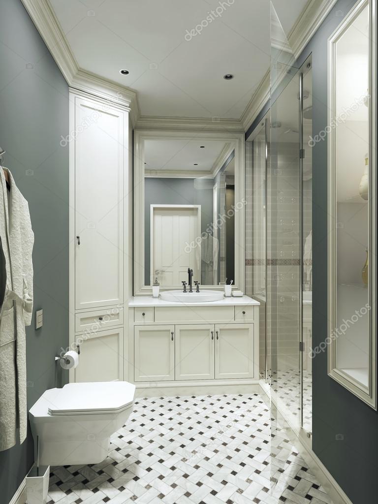 badezimmer landhausstil stockfoto kuprin33 49110113. Black Bedroom Furniture Sets. Home Design Ideas