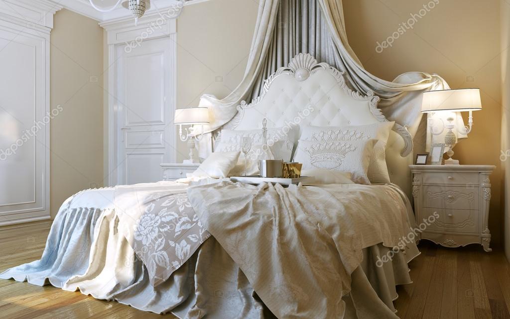 stile barocco di camere da letto — Foto Stock © kuprin33 #49110125
