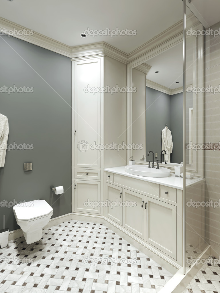 Extreem badkamer landelijke stijl — Stockfoto © kuprin33 #49110139 &RY67