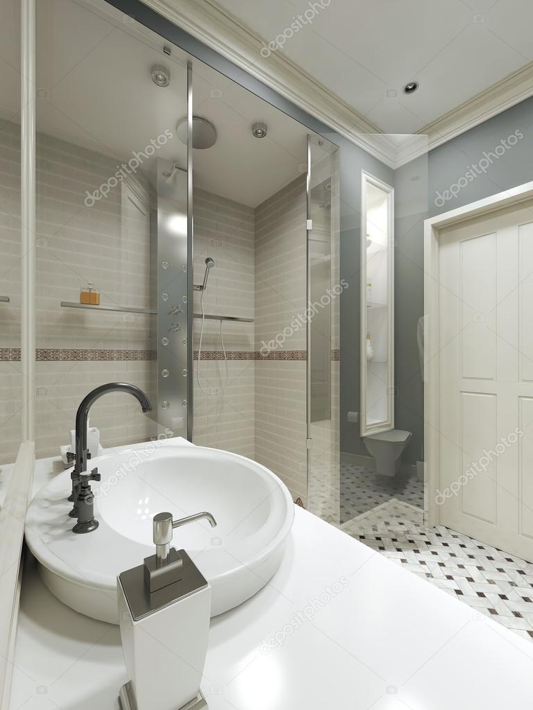 badkamer landelijke stijl — Stockfoto © kuprin33 #49110143