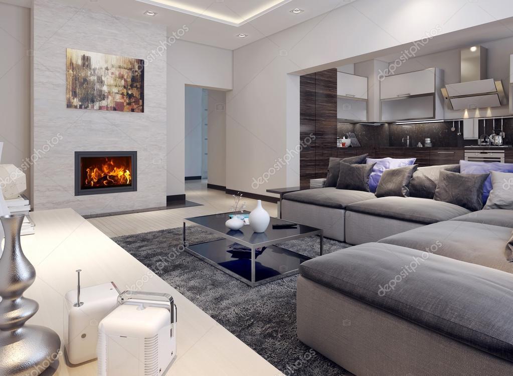 soggiorno stile contemporaneo — Foto Stock © kuprin33 #49110207
