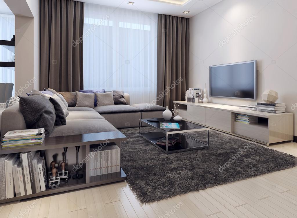 soggiorno stile contemporaneo — Foto Stock © kuprin33 #49110271