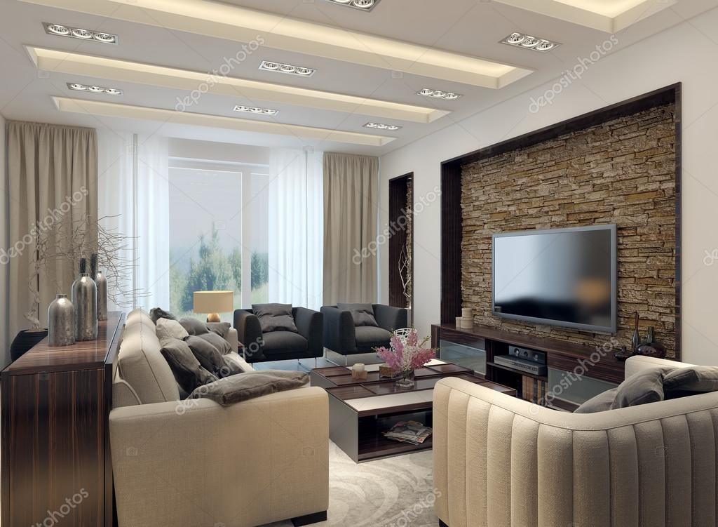 Living room modern style — Stock Photo © kuprin33 #49110335