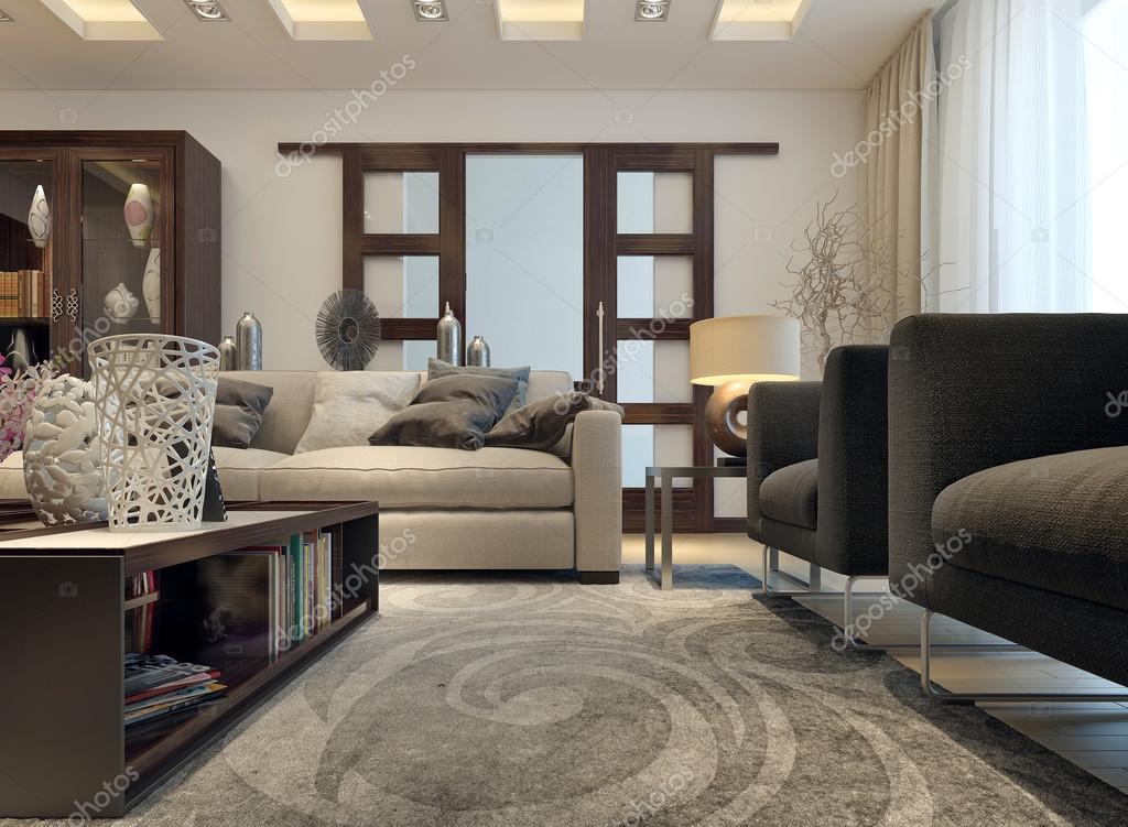 Wohnzimmer modern eingerichtet — Stockfoto © kuprin33 #49110341