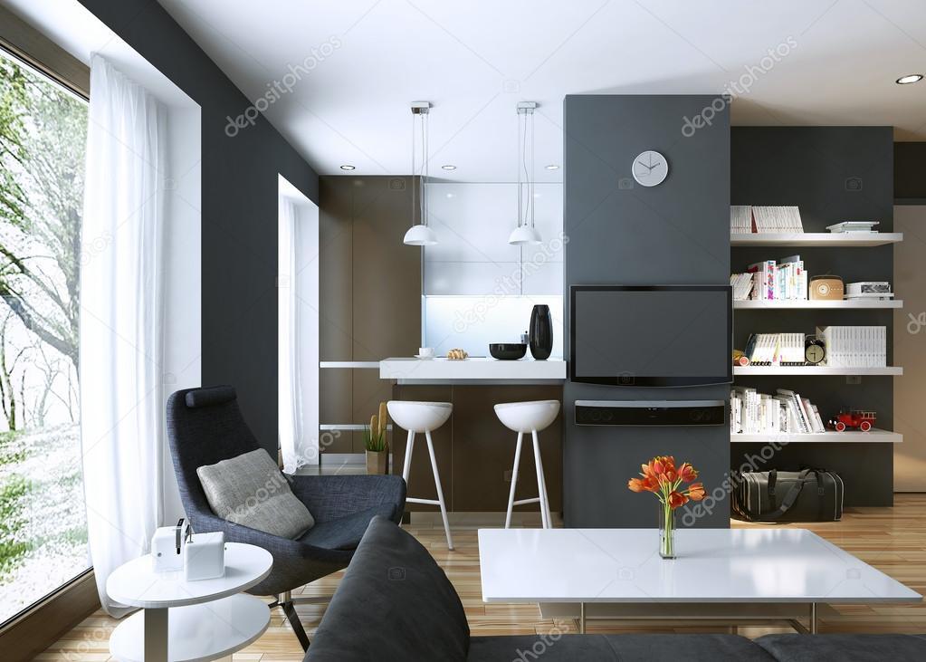 Wohnzimmer Modern Eingerichtet U2014 Stockfoto