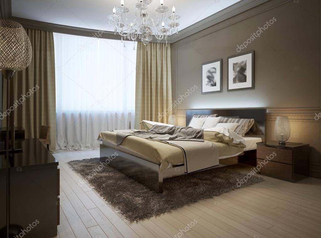 Slaapkamer interieur in moderne stijl u2014 stockfoto © kuprin33 #49110639