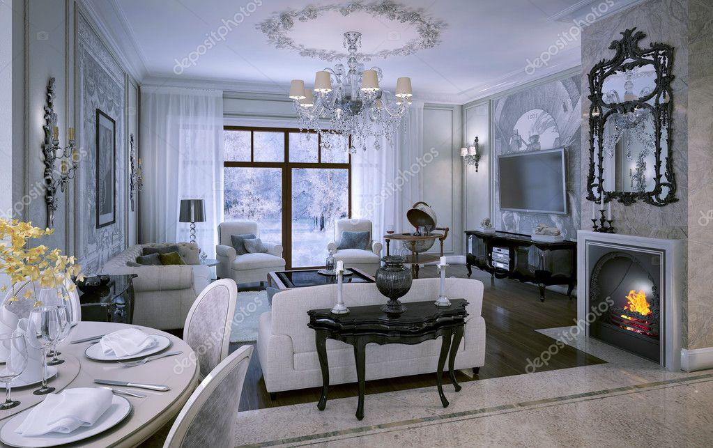 Interieur Klassieke Stijl : Interieur woonkamer in klassieke stijl u stockfoto kuprin
