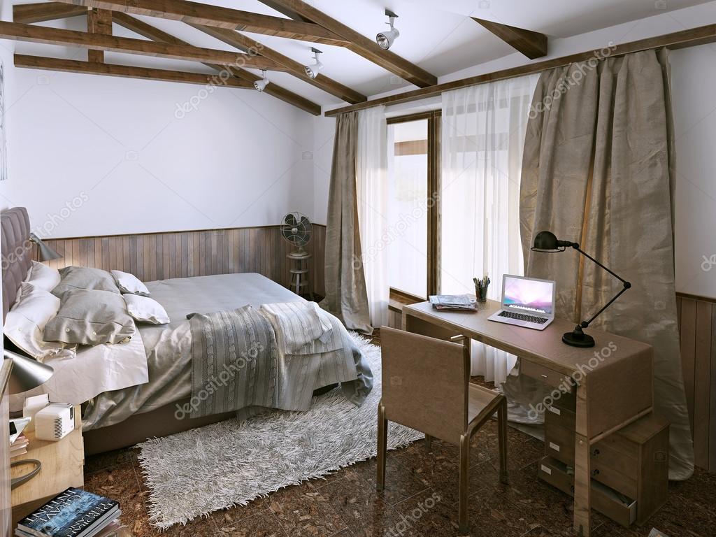 Sypialnia W Stylu Rustykalnym Zdjęcie Stockowe Kuprin33