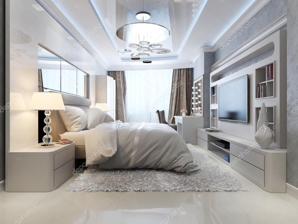 Luxe slaapkamer interieur stockfoto kuprin33 49469947 for Interieur slaapkamer