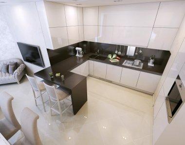 Kitchen interior, modern style