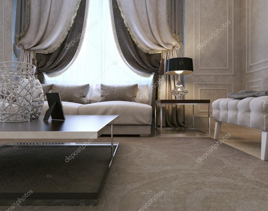Wohnzimmer, Art Deco-Stil, klassisch — Stockfoto © kuprin33 ...