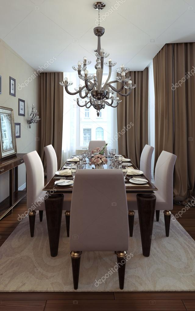 Luxury Dining Room Art Deco Style Stock Photo C Kuprin33 49470251