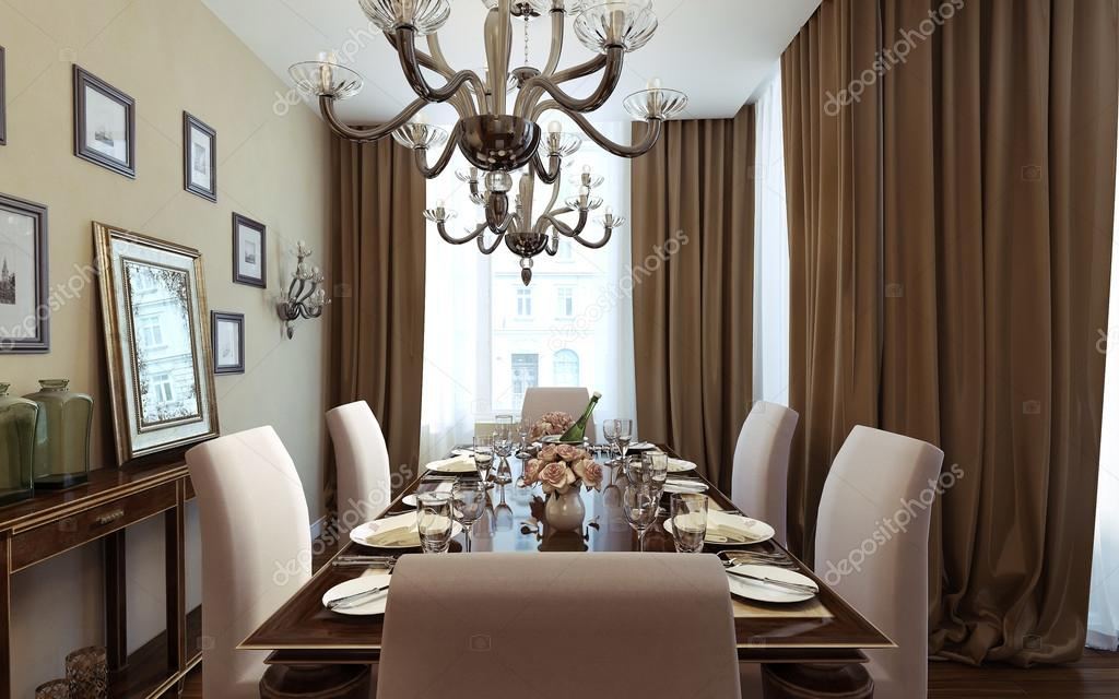 sala da pranzo di lusso, stile art deco — Foto Stock © kuprin33 ...