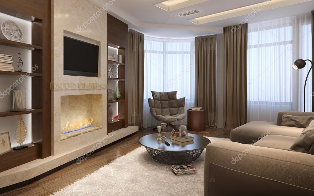 woonkamer in een moderne stijl — Stockfoto © kuprin33 #49470353