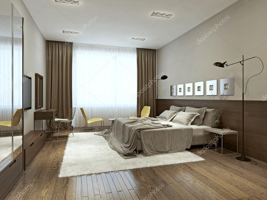 현대적인 스타일의 침실 인테리어 — 스톡 사진 © kuprin33 #49470455