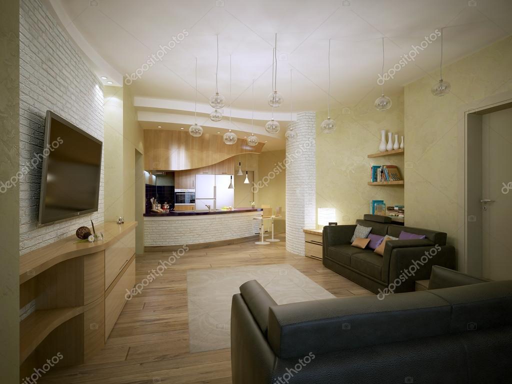 Wohnzimmer modern eingerichtet — Stockfoto © kuprin33 #51674343