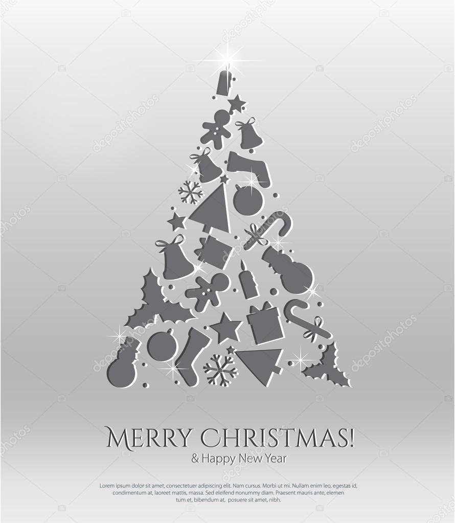 abstrakte weihnachtskarte mit gravur symbole stockvektor. Black Bedroom Furniture Sets. Home Design Ideas