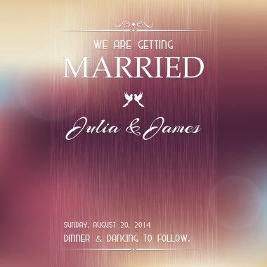 Wedding invitation card. clip art vector