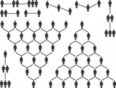 Pyramid people pictogram