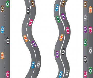 Cars on roads