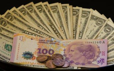 Billete Argentino con Dolares