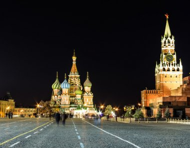 St.basil and red square night time