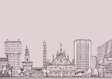 City of Milan skyline