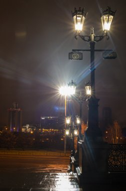 View of Ekaterinburg centre by night