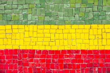 Bolivian flag mosaic