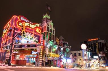 Clifton Hill nightlife,Niagara Falls