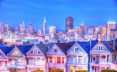 The Painted Ladies in Alamo square,San Francisco