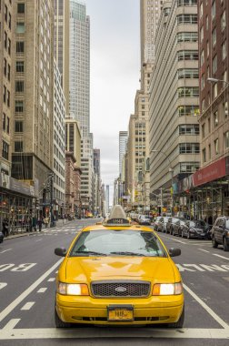 NYC taxi on the streets of Manhattan