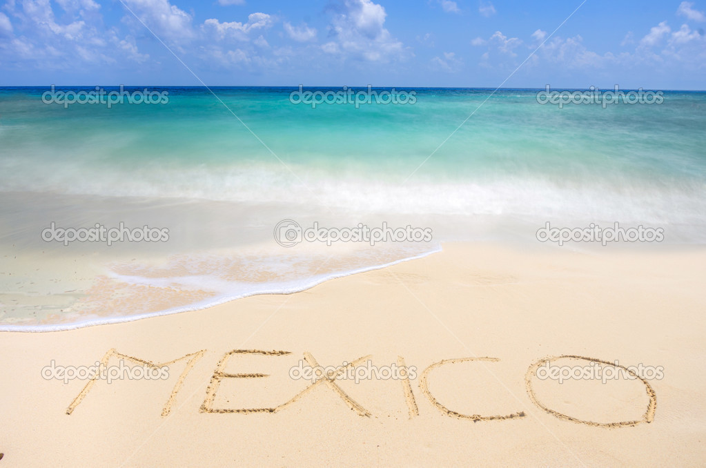 Mexican tropical beach