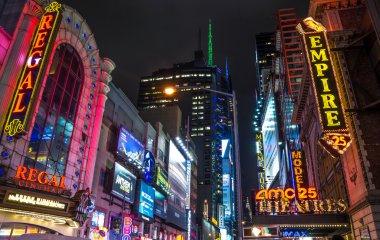 Broadway illuminated signboard,Manhattan