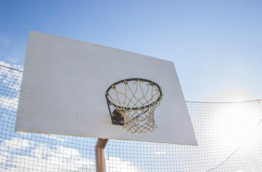 Basketball court on the street