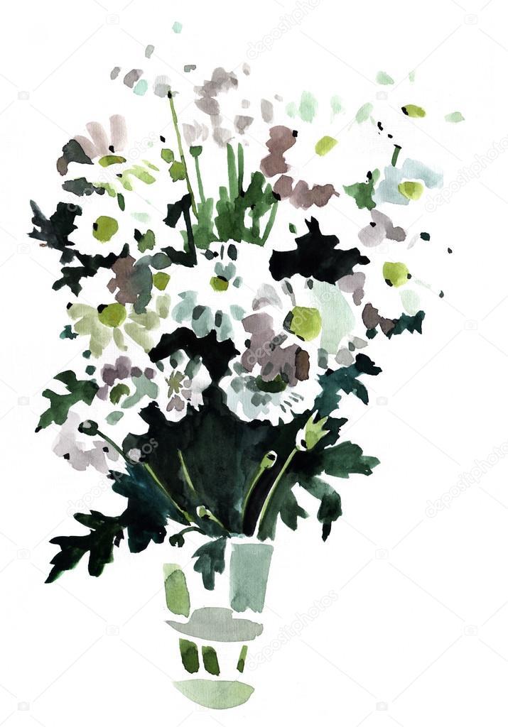 Suluboya çiçek Izlenim Boyama Stok Foto Lenny712 50846623