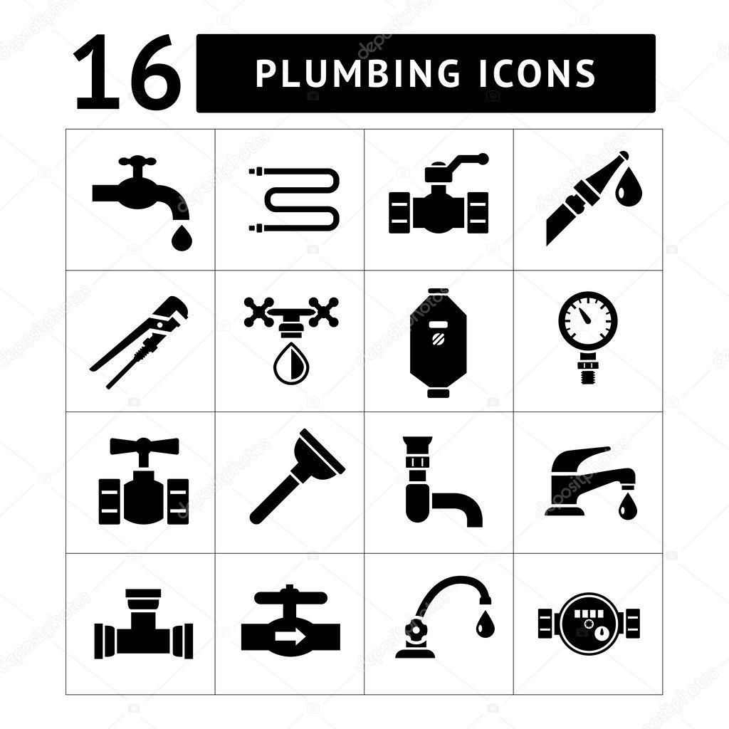Set icons of plumbing