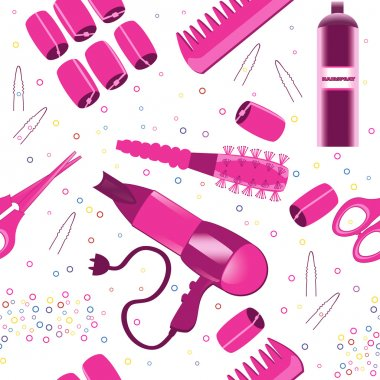Hairdressing accessories pattern