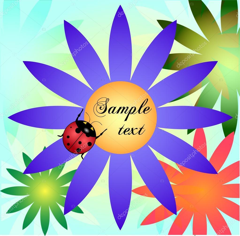 illustration of a cute ladybug