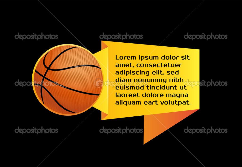 Vector Icon Ball And Origami Basketball Stock