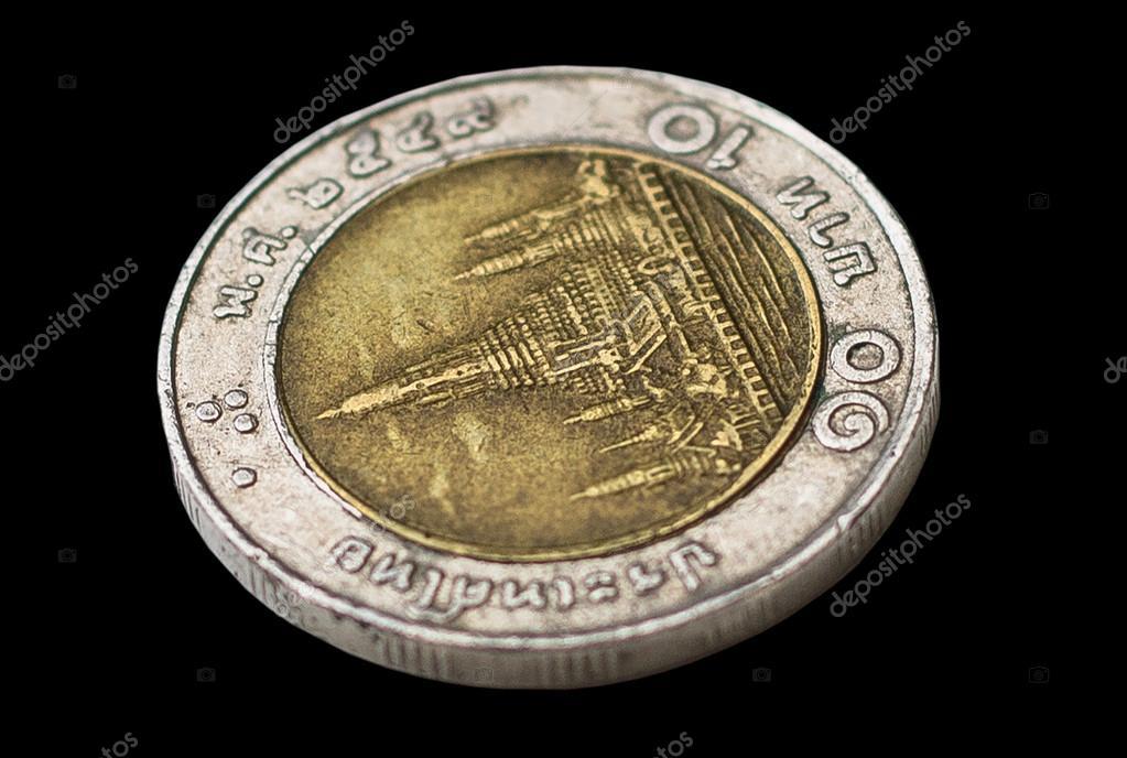 Thailand Baht Münzen Stockfoto Sirichaideposit 43472337